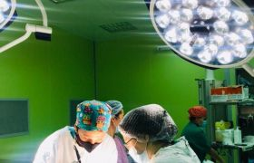 A disintegrating tumor was removed at the National Scientific Research Center